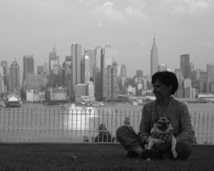 Jennifer Herrera with her beloved Pug, Nina.