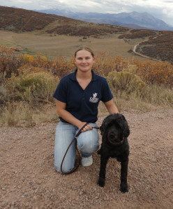 Brandi Jo brings her training skills to the great outdoors in Colorado.