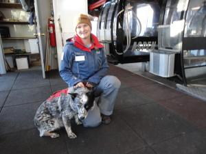 Brandi Jo and Aspen Avalanche dog, June.
