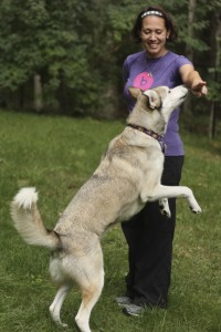 "Darlene and Kota working on ""Touch!"""
