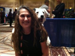 Sigi with Hero at the annual APDT conference.