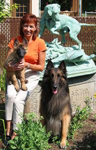 Pia Silvani and her Belgian Tervurens