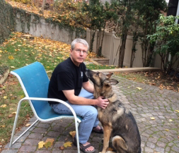 Rich and his best friend and rescue dog, Poni.