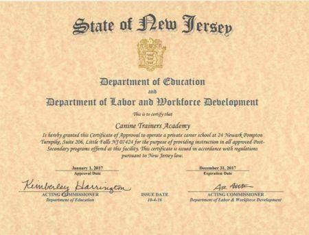 2017 State Certificate